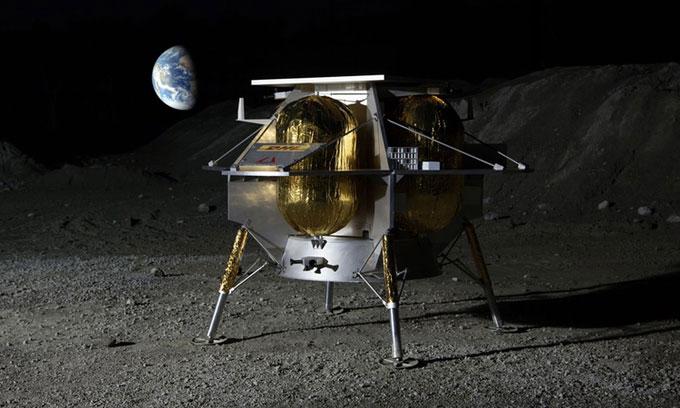Tàu vũ trụ Peregrine sẽ hạ cánh xuống Mặt trăng vào năm sau.