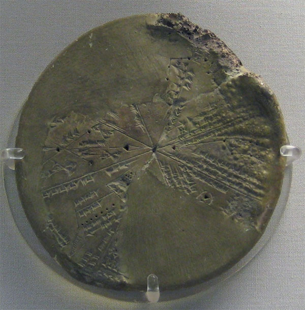 Bản đồ ghi lại sự kiện thiên văn được quan sát vào ngày 29/6/3123 trước Công nguyên.