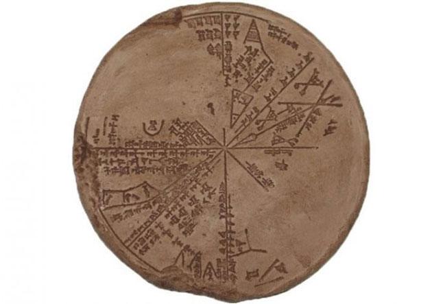 Tấm bản đồ thiên văn (bản đồ sao) được tìm thấy, phục hồi vào thế kỷ 19