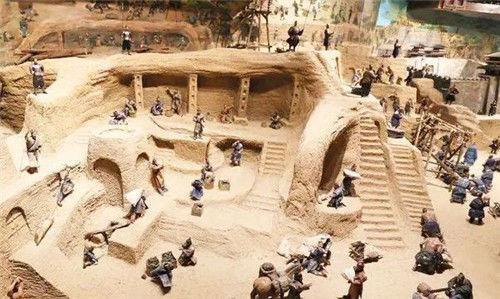 Mô phỏng hình ảnh bên trong lăng mộ Tần Thủy Hoàng.