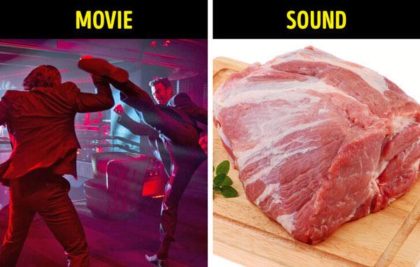 Tiếng đấm đá – sử dụng thịt