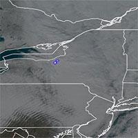 Thiên thạch hiếm thấy phát nổ trên bầu trời New York