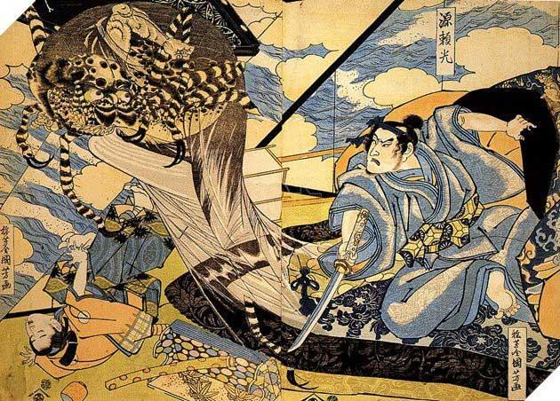 Minamoto no Yorimitsu - vị tướng huyền thoại của đại gia tộc samurai Minamoto.