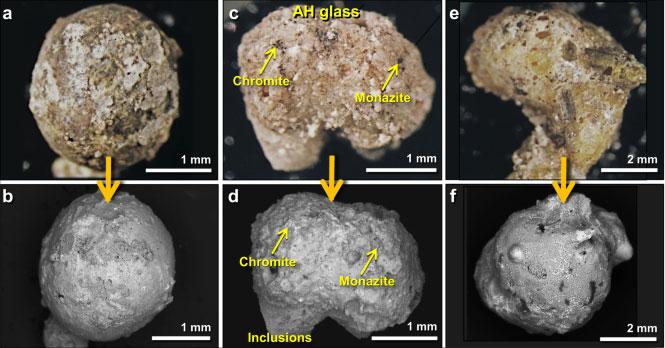 Những quả cầu thủy tinh được hình thành từ đất nung, sắt nung