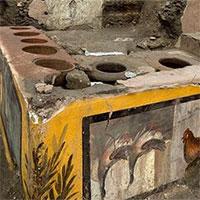 """Phát hiện cửa hàng """"đồ ăn nhanh""""2.000 năm tuổi ở Pompeii"""