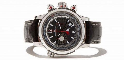 Chiếc đồng hồ Jaeger-LeCoultre World Chronograph sử dụng chỉ báo hoạt động thay vì kim dây.