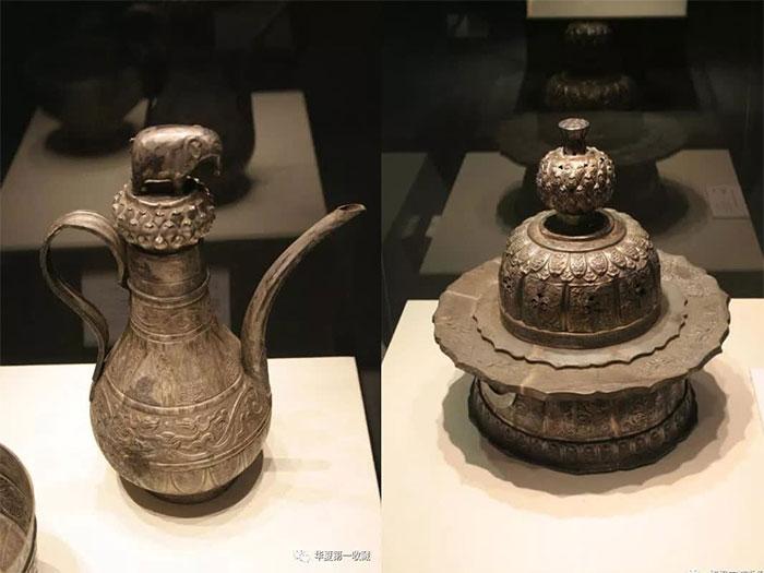 Đồ tạo tác bằng bạc được trưng bày trong viện bảo tàng.