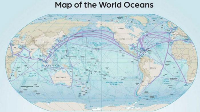Thái Bình Dương là đại dương lớn nhất