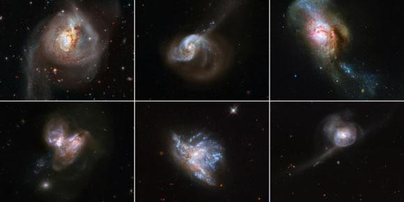 6 thế giới hỗn loạn chính là 6 thiên hà đang được định hình từ vụ sáp nhập 2 thiên hà khác