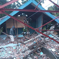 Cận cảnh động đất ở Indonesia, hơn 600 người thương vong