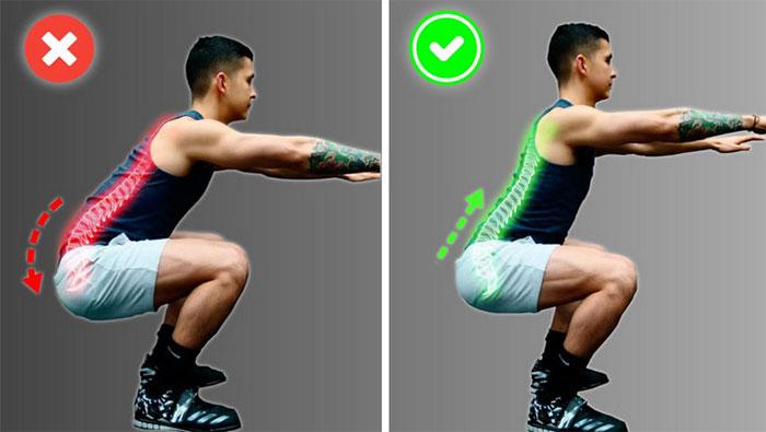 Ngồi xổm nhanh nếu không cẩn thận có thể dễ dẫn đến chấn thương ở lưng