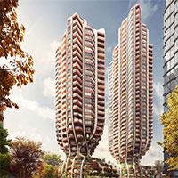 """Thiết kế độc đáo: Hai tòa nhà """"thắt nút""""cao hơn 100m"""