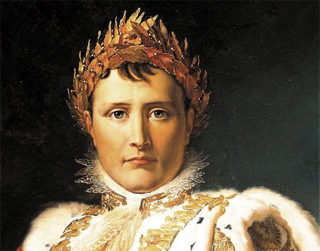 Một phần bức tranh vẽ hoàng đế Napoleon của họa sĩ François Baron Gérard.