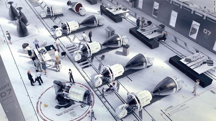 Ảnh minh họa hệ thống tên lửa đẩy chạy bằng năng lượng hạt nhân