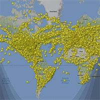 Có bao nhiêu máy bay trên bầu trời cùng một lúc?