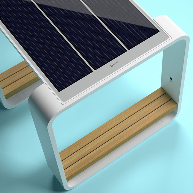 Solar powered smart chair: Charge the battery, play WiFi and more photos 12