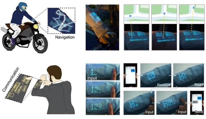Nhóm nghiên cứu đã chỉ ra cách mà vải điện tử có thể được sử dụng như một công cụ giao tiếp tương tác.