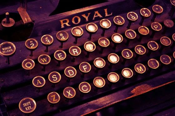 Máy đánh chữ thời xưa.