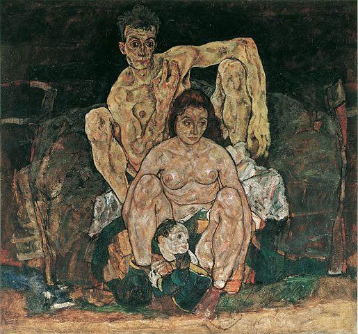 """Bức tranh """"The Family"""" của Egon Schiele."""