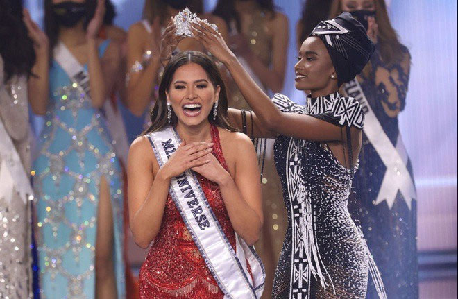 Người đẹp Mexico đăng quang ngôi vị cao nhất tại Hoa hậu Hoàn vũ 2020.