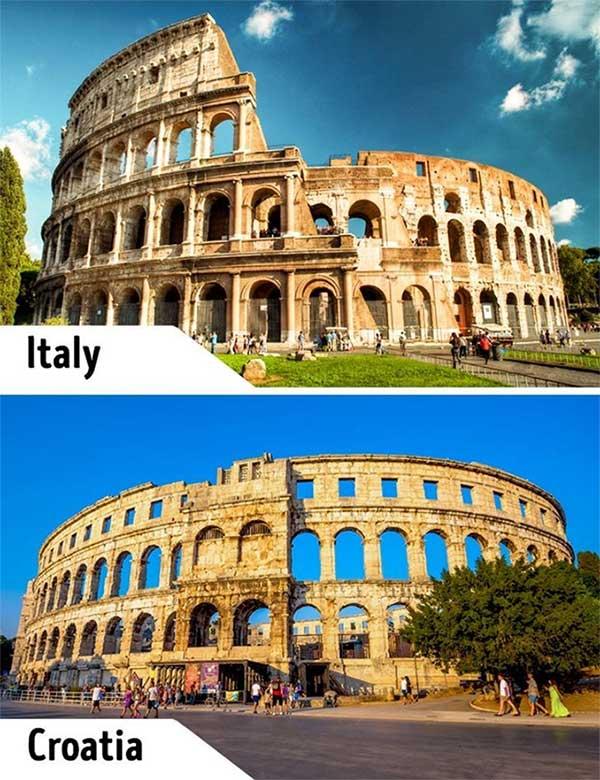 Đấu trường Colosseum, Italia và Pula, Croatia