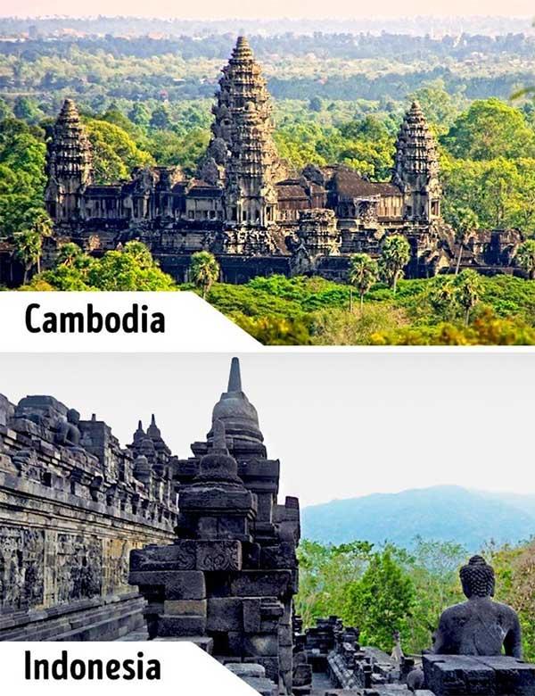Đền Angkor Wat và Borobudur