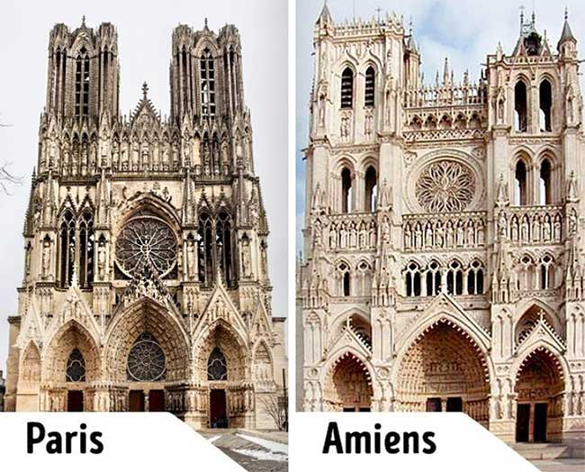 Nhà thờ Đức Bà Paris và Nhà thờ Đức Bà Amiens