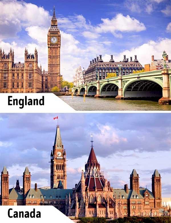 Tháp đồng hồ Big Ben và Tòa nhà Parliament Hill