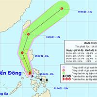 Xuất hiện bão gần biển Đông - cơn bão Choi-Wan