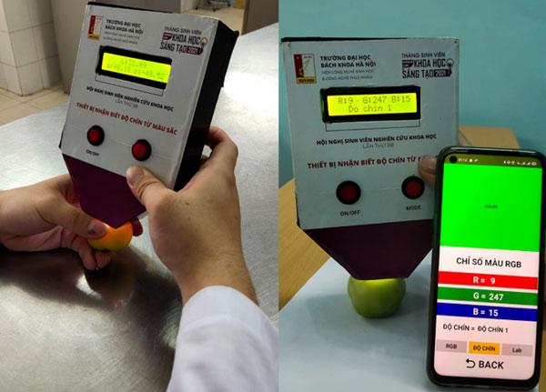 Thiết bị đo độ chín cà chua kết nối với ứng dụng trên điện thoại để theo dõi từ xa